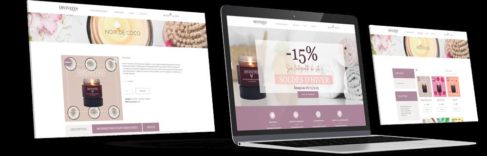 Site e-Commerce - boutique en ligne de bougie