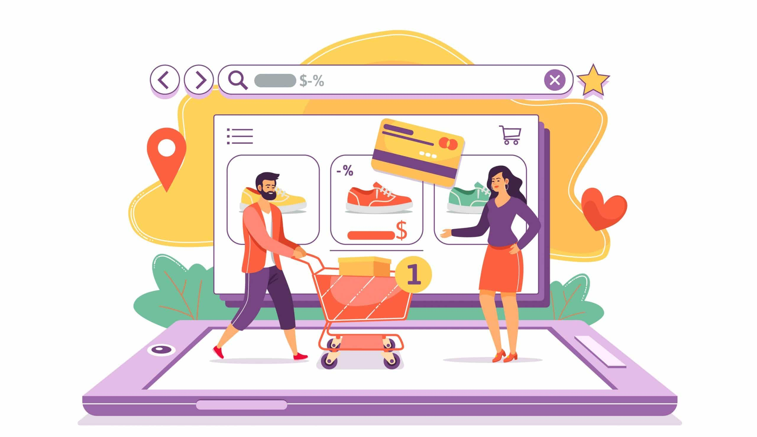 Image de shopping en ligne