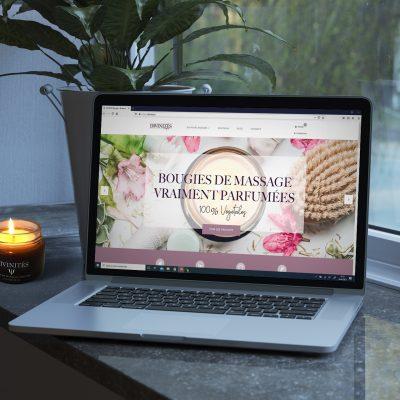 Site e-commerce de bougie de massage